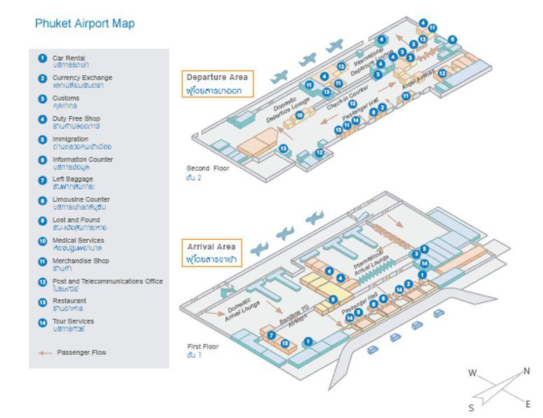 phuket airport map pdf